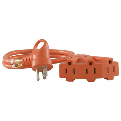 Conntek 24342-036 i-Plug 15 Amp 125 Volt Multi-Outlet Extension Cord, 3ft. Multi Outlet Extension Cord