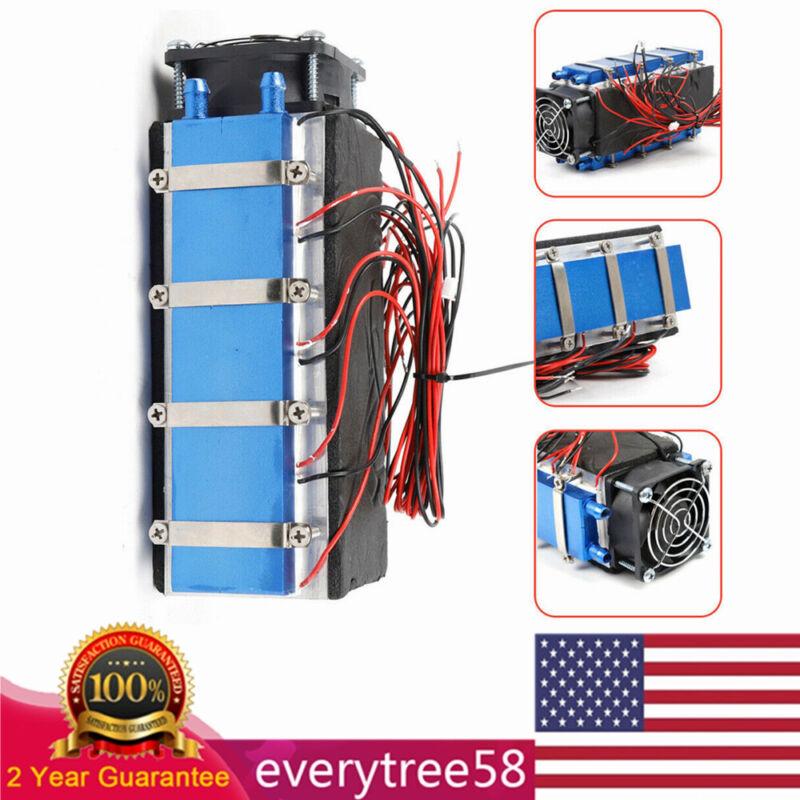 DIY Kit 8-Chip TEC1-12706 Thermoelectric Peltier Module Water Cooler Cooling Fan