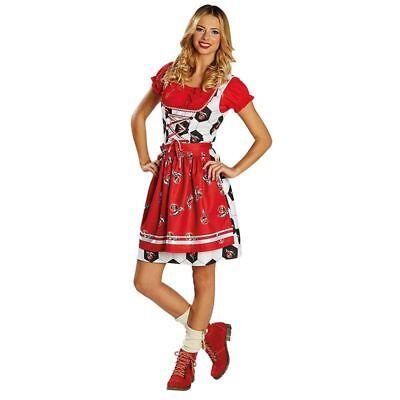 Rub - Damen Kostüm Dirndl 1. FC Köln Karneval (Oktoberfest Damen Kostüm)