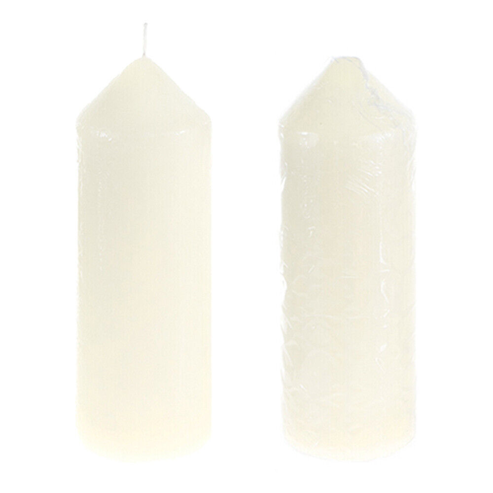 "2"" x 6"" Dome Top Aerated Unscented Pillar Candle - Ivory, CA"