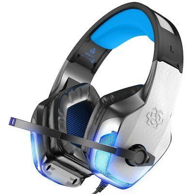 Gaming Headset for Xbox One PS4 PC Controller Noise Cancelling LED Light Mic