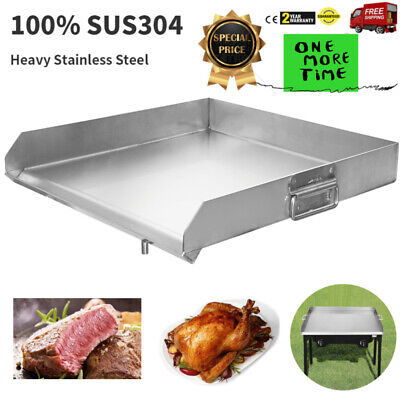 Flat Top Griddle Grill Heavy Stainless Steel For Home Singletriple Burner Stove