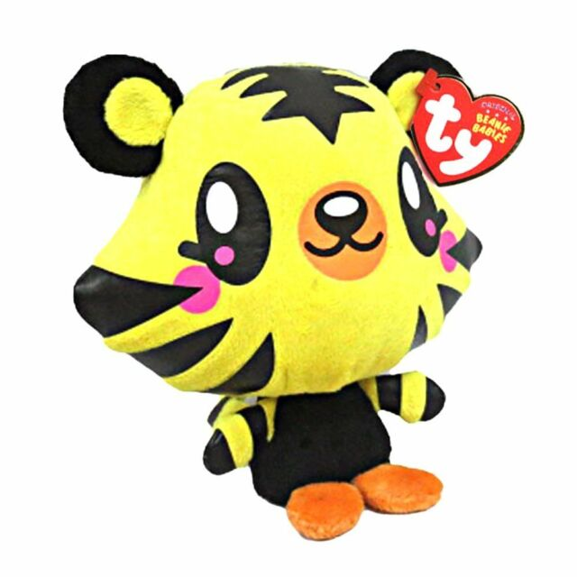 "Plush - 6"" TY Beanie Babies - Moshi Moshlings - Jeepers - Tiger"