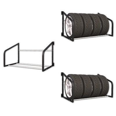 2er Set Reifenregal für 8 Reifen Regal Wandhalterung Reifenhalter KFZ Wandregal