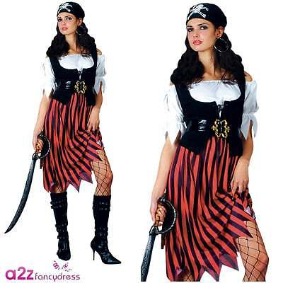 Lady Piraten-outfit (Piraten-Outfit Lady Fluch der Karibik Partei-Abendkleid -Kostüm für Erwachsene)