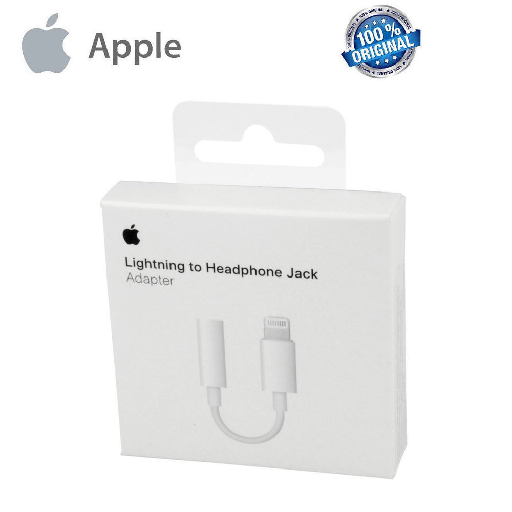 ADATTATORE APPLE LIGHTNING JACK CUFFIE 3.5 IPHONE 7 7 PLUS CAVO HEADPHONE A1749