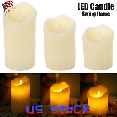 Home Decoration Flameless Candle Swinging Flame Cylindrical LED Night Light US Candle Night Light
