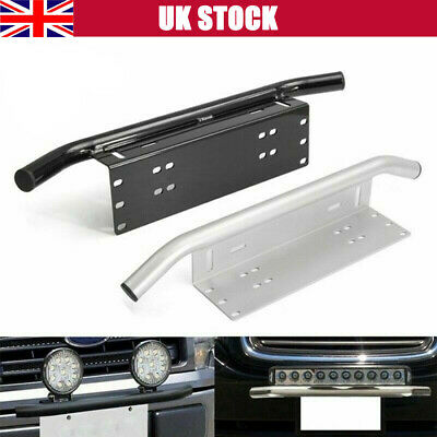 ❤️Car License Plate Frame Number Plate Bull Bar Bumper Mount Bracket LED Light