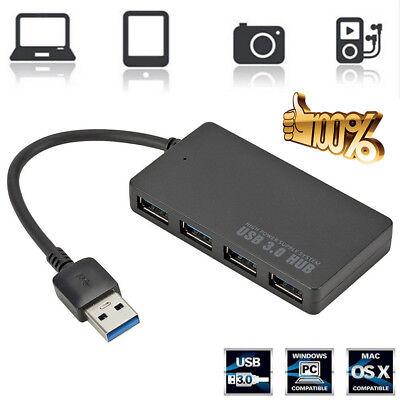 Portable Best Quality Super Speed 4-Port USB 3.0 Hub Splitter Adapter PC (Best Usb 3.0 Hub)