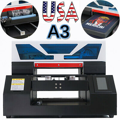Uv Printer A3 Flatbed Cylindrical Signs Glass Metal Wood Rotation Embossed