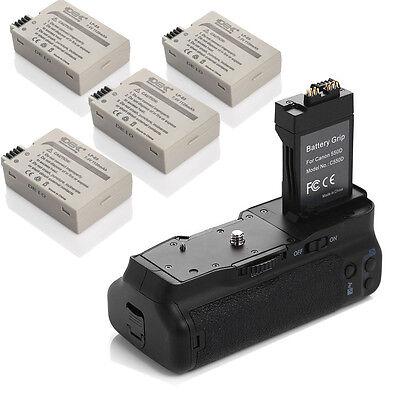 DBK Bg-e8 Battery Grip Holder + 4 Lp-e8 Battery For Canon...