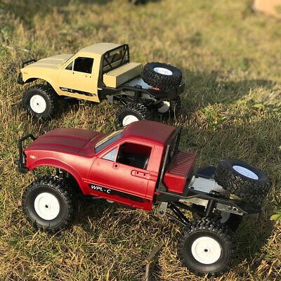 WPL C14 1/16 2.4G 4WD RC Crawler Off-road Semi-truck Car with Headlight RTR C9V9