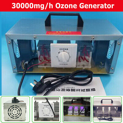 30g/h 110V Ozone Generator Air Purifiers Commercial Home Disinfection Machine US