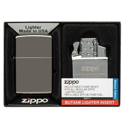 ZIPPO Black Ice Lighter 150 With Adjustable Butane Single To