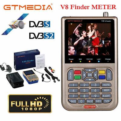 GTmedia V8 FTA Medidor de buscador de satélite DVB-S/S2 Quad Band LCD...