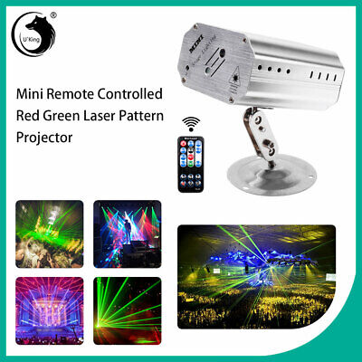 Pattern Laser Projector Stage Lights Mini LED R&G Lighting Party Disco DJ+Remote Led Party Lights
