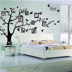 Wall Family Tree Photo Decal Sticker Removable Quote Frame Frames Clock Dc0120