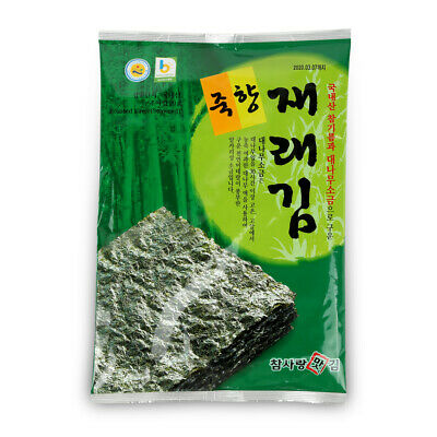 Korean Premium Roasted Seaweed Laver Sheets with Lightly Salted Total 50 Sheets