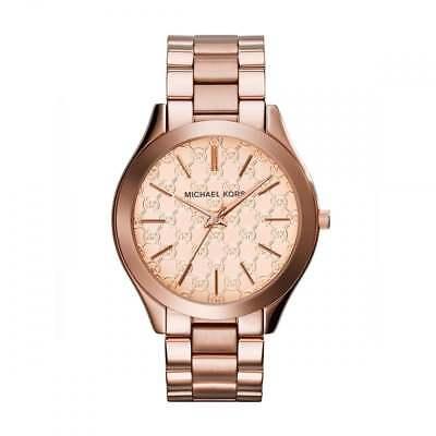 Michael Kors Women's Slim Runway Rose Gold-Tone St. Steel Bracelet Watch MK3336