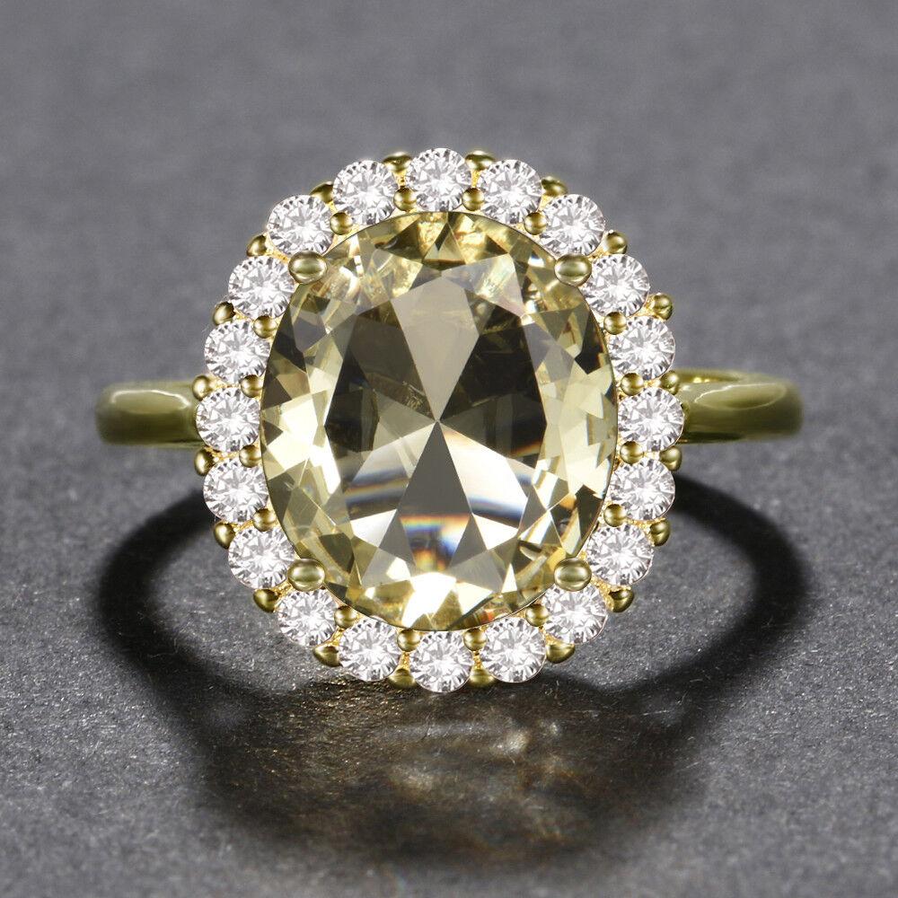 Silver Women Oval Cut Wedding Engagement Ring Wholesale 6-10 Gemstone Birthstone