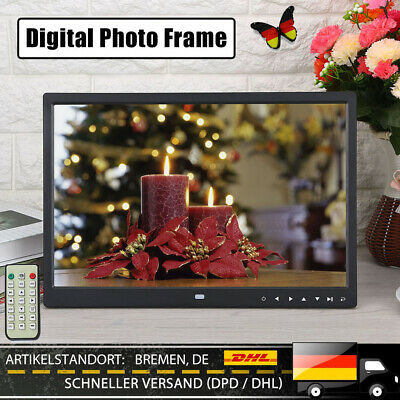 "15"" 1280*800 TFT LED Digital Bilderrahmen Fotorahmen MP3/4 Alarm Kalender GUT AP"