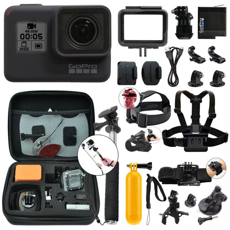 Gopro Hero7 Black 12 Mp Waterproof 4k Camera Camcorder + Complete Action Bundle