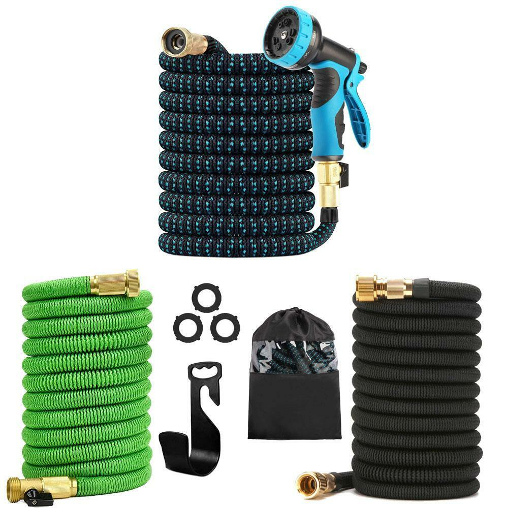 Upgraded Expandable Garden Hose Water Hose w/ Nozzle and Durable 3-Layer Latex Home & Garden
