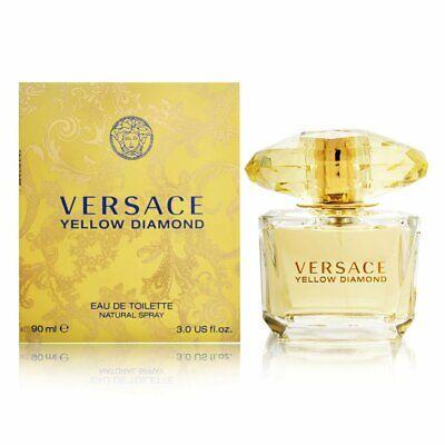 Versace Yellow Diamond 3.0 oz Eau de Toilette Spray for Women New In Box