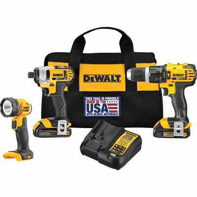 DeWALT DCK384C2 20-Volt Cordless Drill Impact Driver & Flashlight Tool Combo Kit