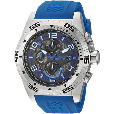Invicta 24710 Men's Charcoal Dial Erotic Silicone Strap Chrono Watch
