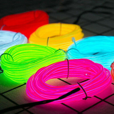Neon LED Light Dance Party Decoration El Wire String Strip Rope + USB Controller - Neon Dance Decorations