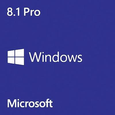 MICROSOFT WINDOWS 8.1 PRO 32/64 BIT GENUINE LICENSE KEY PRODUCT CODE