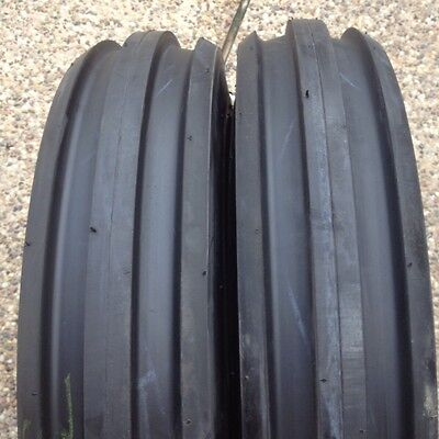 Two 6.00-16600x16600-166.00x16 Rib Imp Discwagon Farm Tractor Tires Wtubes
