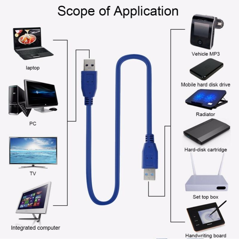 USB 3.0 Extension Cable Male to male Data Sync Extender Cable BTC Mining 5Gbps
