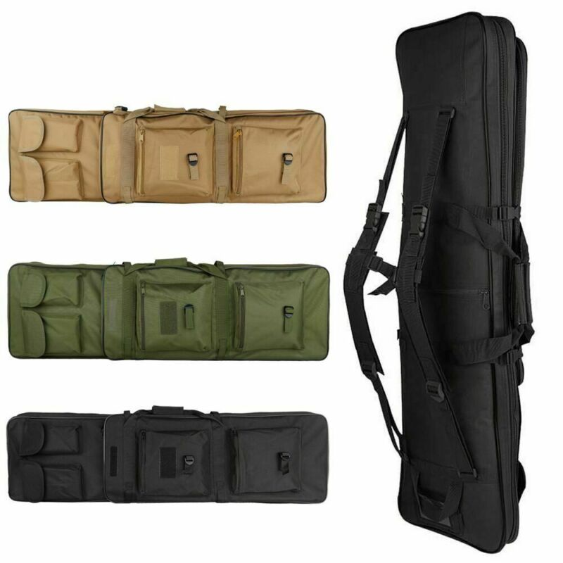 """39"""" Tactical Carbine Rifle Range Gun Carry Case Double Padded Backpack Molle Bag"""
