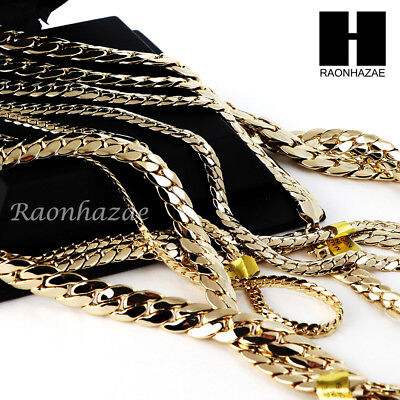 Heavy Miami Cuban Yellow 14k Gold Plated 5 to12mm, 8