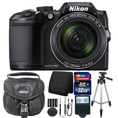Nikon COOLPIX B500 16MP Wi-Fi & NFC Digital Camera Black + 32GB Accessory Kit