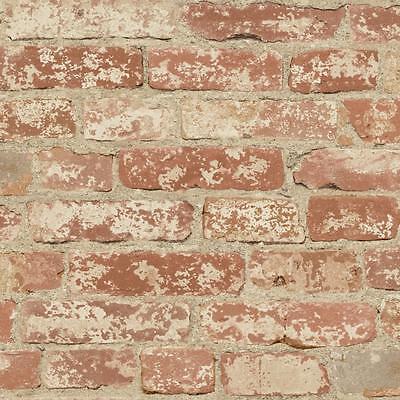 OpenBox RoomMates RMK9035WP Stuccoed Red Brick Peel and