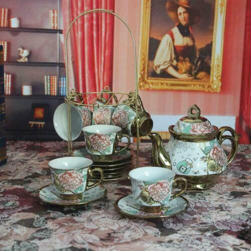20pcs Royal Tea Set Afternoon Tea Set Adult Ceramics Household Cups Saucers - $34.99