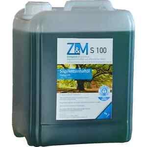 Bio Kettenöl 5 L Z&M S100 Sägekettenhaftöl Sägekettenöl Haftöl Motorsägenöl ZM