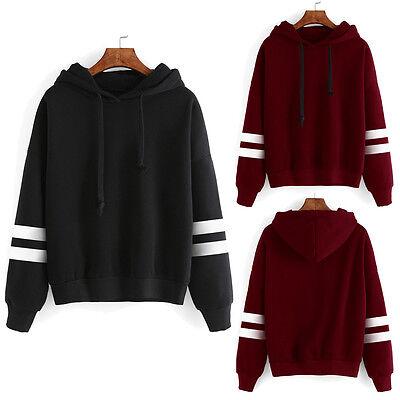 Women Casual Hoody Hoodie Sweatshirt Long Sleeve Sweater Pullover Tops Coat Lot
