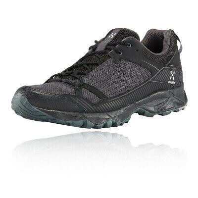 Haglofs Mens Trail Fuse Walking Shoes Black Grey Sports Outdoors Breathable