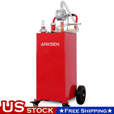 35 Gallon Red Gas Fuel Diesel Caddy Transfer Portable Tank Wpump Container New