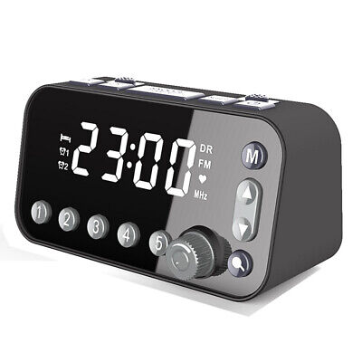 DAB Radio Clock Clock Radio Large Snooze DAB/FM Radio Dual Alarm Clock Home Use