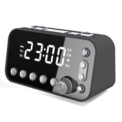 FM DAB Clock Radio Large Snooze Sleep Timer Dual USB Ports Alarm Clock Home Use