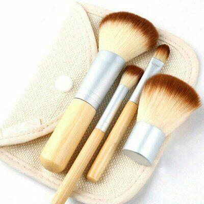 4pcs Pro Makeup Kabuki Brushes Cosmetic Blush Brush Foundation Powder Kit Set Brushes