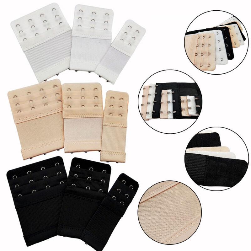 3 Pcs Ladies 2//3//4 Hook Bra Extender Soft Extension Strap Underwear Belt Adding