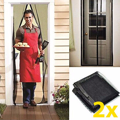 Bug Boxes (2x Auto Mesh Hands-Free Screen Door Mesh Magnets Anti-bug fly NO)