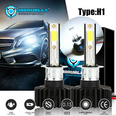IRONWALLS H1 LED Headlight Conversion Kit Bulb 6000K 2200W 330000LM Car Lamp HID