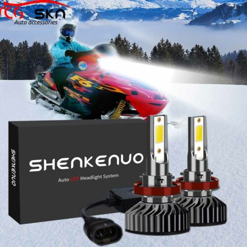 100W LED Headlight Bulb Kit Better than HID Fit 0609-782 H11 For Arctic Cat High